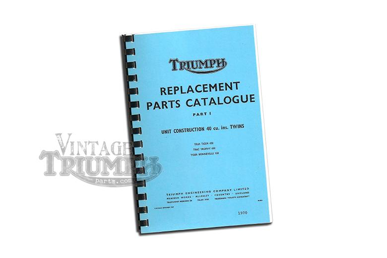 Replacement parts Catalogue  1970 Triumph