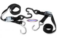"Tiedown, Black. Ancra Lites. High Quality Lightweight 1"" Tiedown. Rated To 1000lbs. Sold In Pairs"
