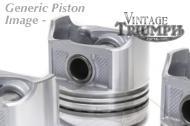 650 Truimph Pistons Kit, Hepolite 7.5-1  Including Rings 71mm