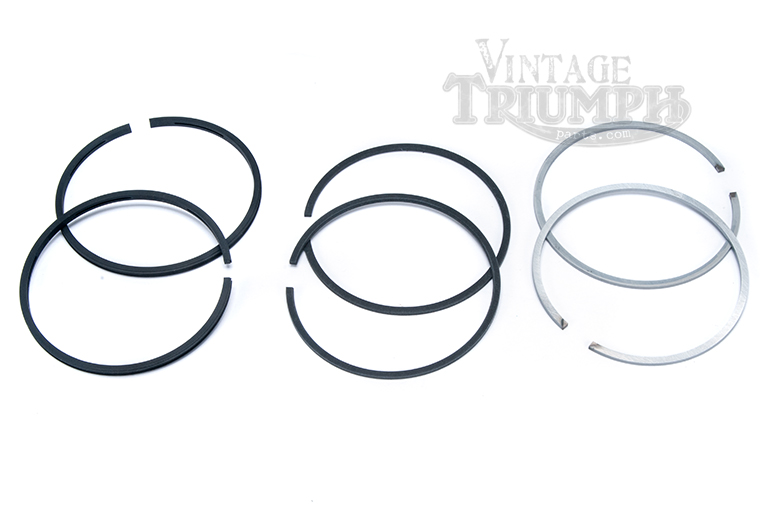 Piston Ring Set - High Quality US Made Hastings Rings To Fit All Triumph 500cc Twins 1958-1973