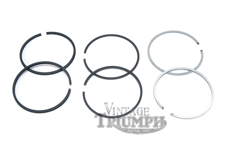 Piston Ring Set - High Quality US Made Hastings Rings To Fit All 750cc Triumph Twins 1973-1983