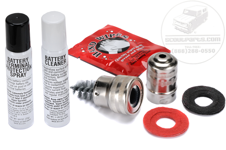 Protect & Clean Your  Battery -Terminal cleaning kit