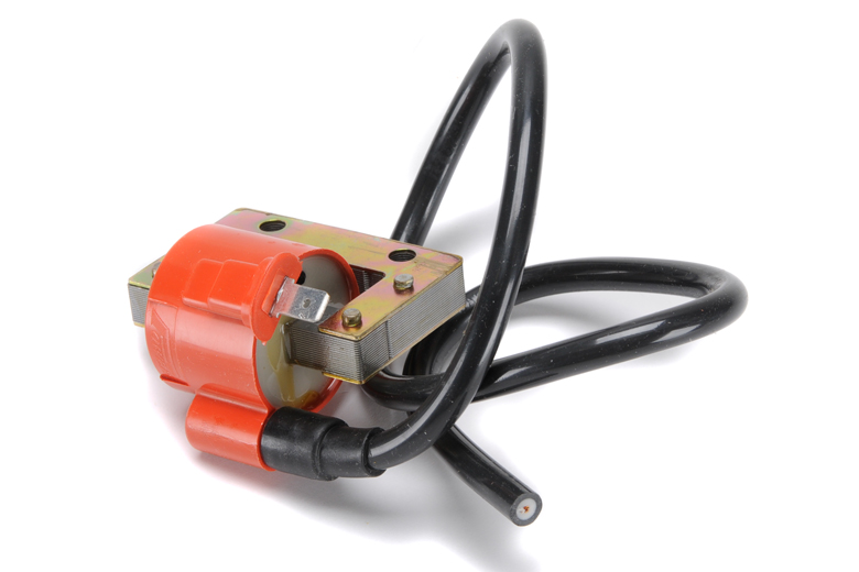 Ignition Coil - Energy Transfer (E.T.). Compact Ignitiion Coil To Replace Original Lucas Energy Transfer (E.T.) Coils Found On British Competition Bikes Of The 60's. Comes With Spark Plug Lead.