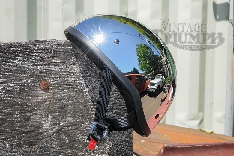 Chrome Skid Lid Vintage Style Helmet.