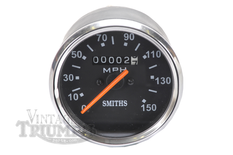 speedometer gauge Triumph  BSA 150 MPH Smiths replica