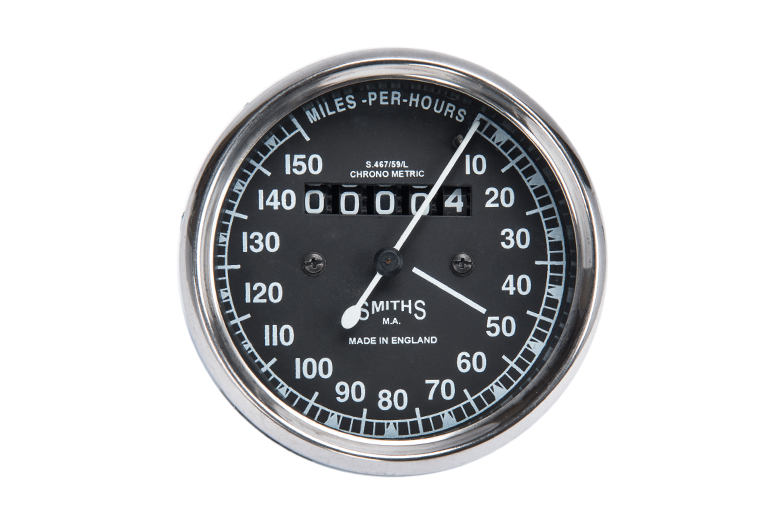 Speedometer gauge 0-150 MPH Black  Smiths Replica  -Royal Enfield, BMW, Norton