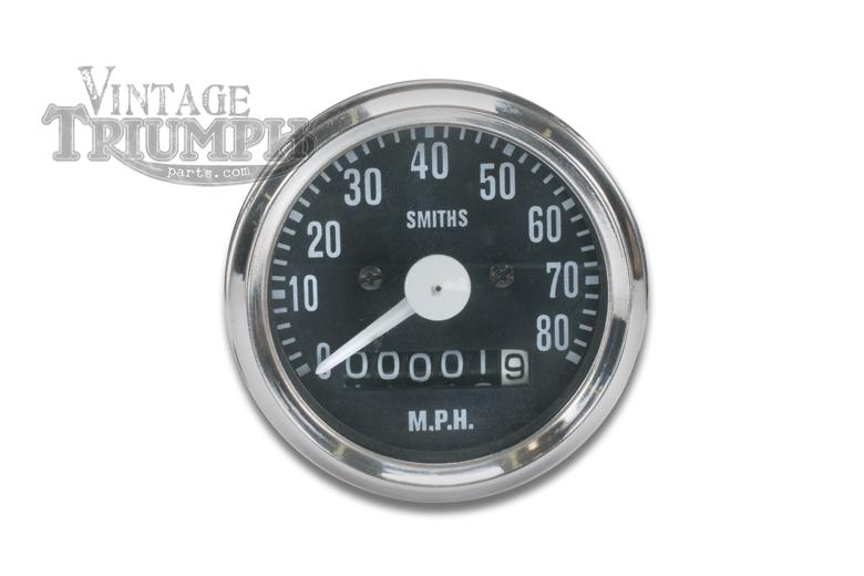 Speedo Gauge - Chrome Bezel- Smiths Replica