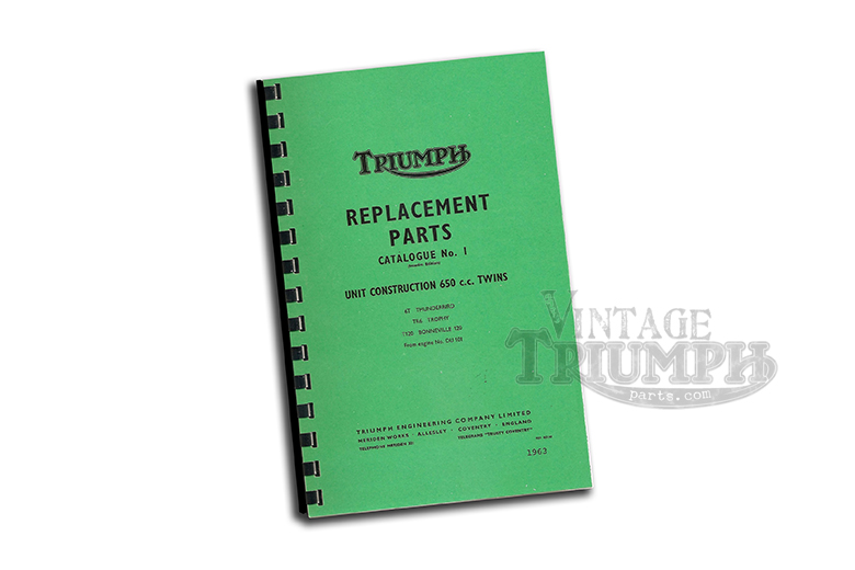 Parts Manual Book 63 TR6/T120