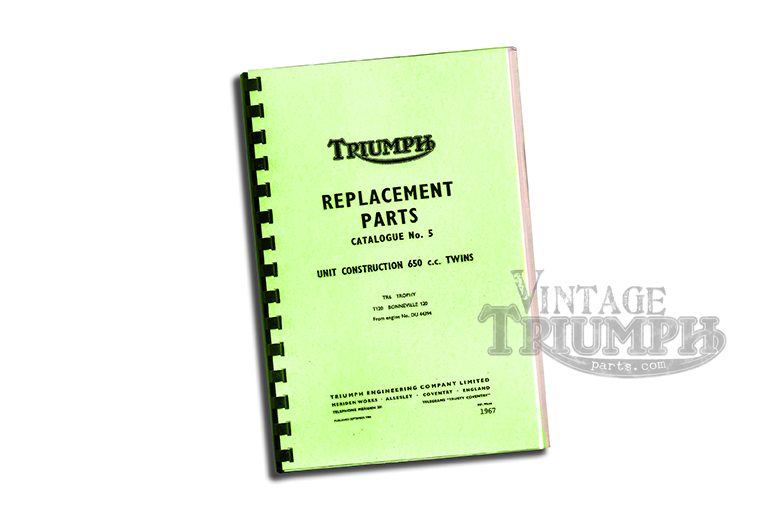 Replacement Parts Catalogue  1967 Triumph