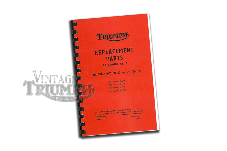 Replacement parts Catalogue  1969 Triumph