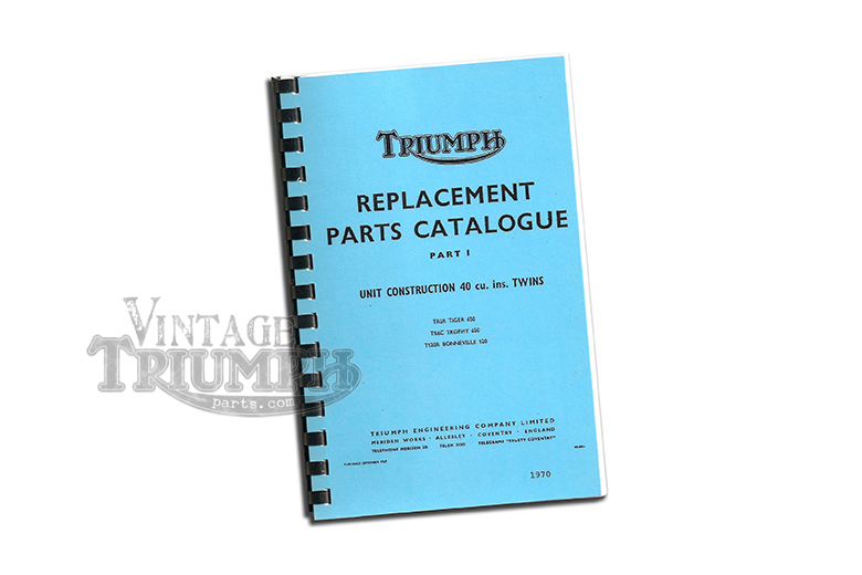 Replacement Parts Catalogue  1970 Triumph