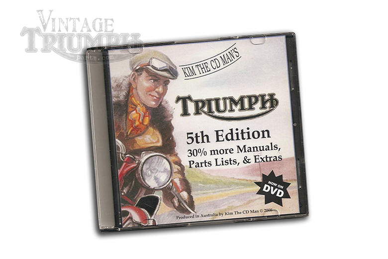 Parts Manual DVD Triumph 1946 To 1982