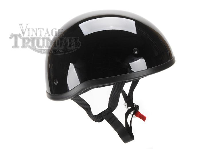 Black Skid Lid Vintage Style Helmet.