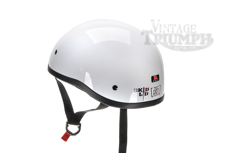 White Skid Lid Vintage Style Helmet.