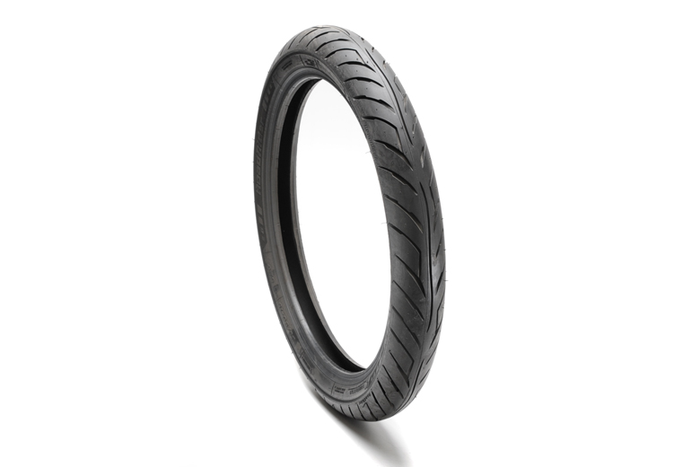 Tire, Front - 90/90-19 AM26 Avon Roadrider. High Quality Modern Front Tire For Roadgoing Triumph Models TR5AR Trophy 1961, T100SS Tiger 1962-1966, T100R & T Daytona 1967-1973, TR6 Trophy 1963-1972, T120 Bonneville 1963-1972, TR7 Trophy 1973-1975 And T140