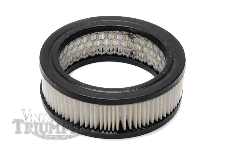 Air Filter Element - Paper. Replacement Filter For All Round Pancake Style Airboxes Fit To many British motorcycles. OEM Fitment For Triumph Motorcycles T90 Tiger 1963-1968, T100SS, T100SC Tiger 1963-1966, T100C Tiger 1966-1973, T100R/T Daytona 1966-1973,