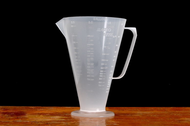 Ratio Rite Cup - Gives Perfect Measurments In CC's, Fluid Ounces And Pints.