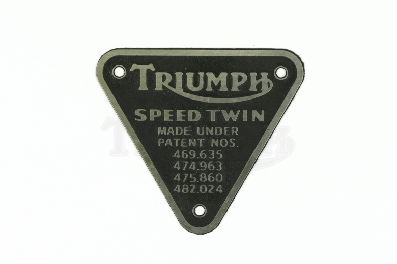 Patent Plate- Speed Twin