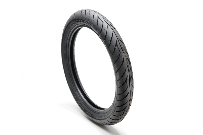 Tire - 100/90-19 AM26 Avon Roadrider. High Quality Modern Front/Rear Tire For Roadgoing Triumph Models TR5AR Trophy 1961, T100SS Tiger 1962-1966, T100R & T Daytona 1967-1973, TR6 Trophy 1963-1972, T120 Bonneville 1963-1972, TR7 Trophy 1973-1975 And T140 -
