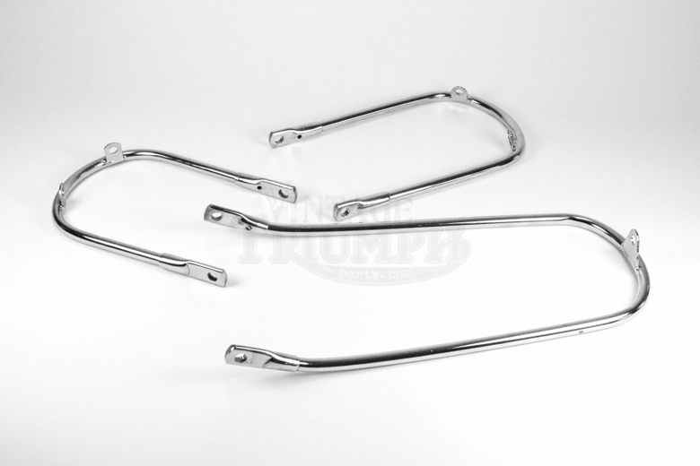 Front Fender Stay -Lower - Chrome 2 Tab