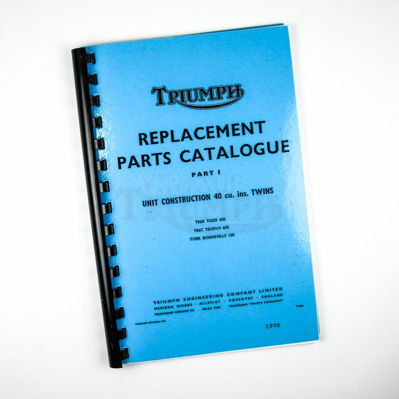 Parts Manual 1973 TR5T