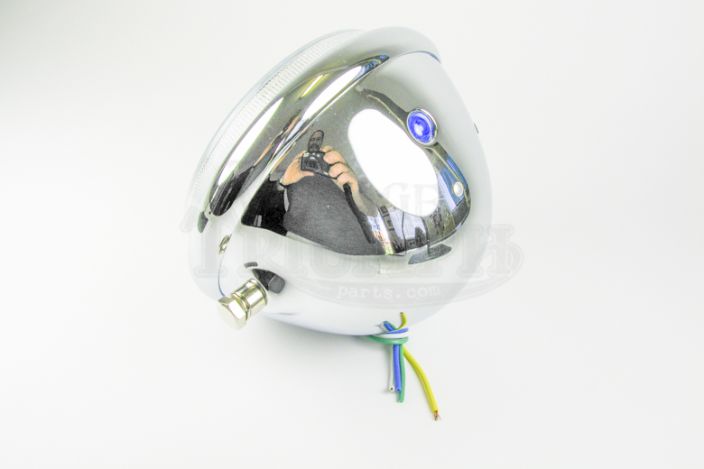 Headlamp Chrome  4.5 Custom Mount