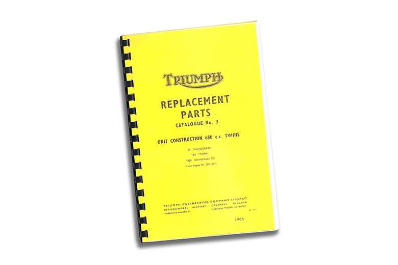 Parts Manual Book 1966 TR6/T120