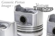 650 Truimph 71 mm Piston 7:1 compression.  Head,IRON Rings Included