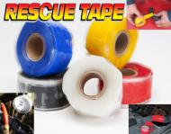 """This roll is 1 inch wide and 12 feet long. Stretch, Wrap and Rescue yourself.   Stretch it and it permanently bonds to itself. Tensile strength is 950 PSI.   Works in temperatures from -65 to  500 degrees fahrenheit. Electric insulation 8,000 volts. Waterproof and airtight. Made in USA. Can be used on fuel lines, radiator cooling hoses, vacuum compressed air lines,  and hydraulic lines. Resistant to fuel, oil and hydraulic fluid, heat and cold.  Four wheeler magazine says, \""""This stuff is like duct tape on steroids!\""""  The only silicone tape used by the US Army vehicle & tank battle damage assessment kit. Made in the USA"""